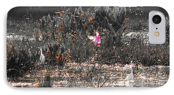 Roseate Spoonbill Select Color Phone Case by Ken Figurski