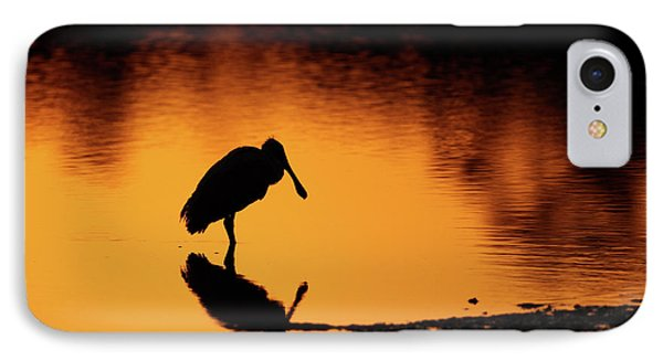 Roseate Spoonbill Silhouette IPhone Case
