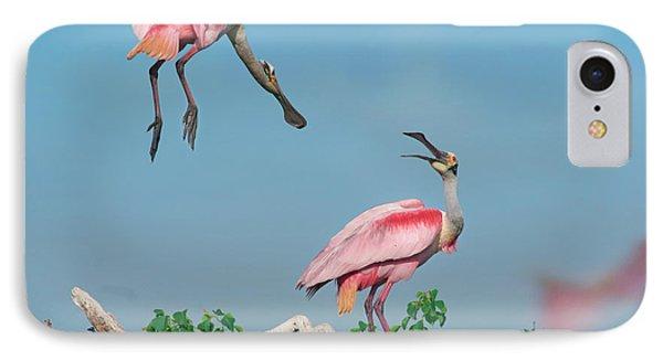 Roseate Spoonbills IPhone Case by Tim Fitzharris
