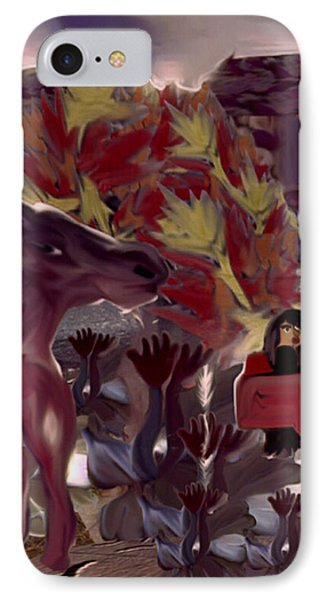 Rosehand's Horse IPhone Case by Marcia Kaye Rogers