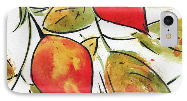 IPhone Case featuring the painting Rosehips In Autumn by Pat Katz