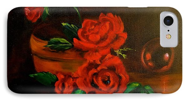 IPhone Case featuring the painting Roses Are Red by Jenny Lee