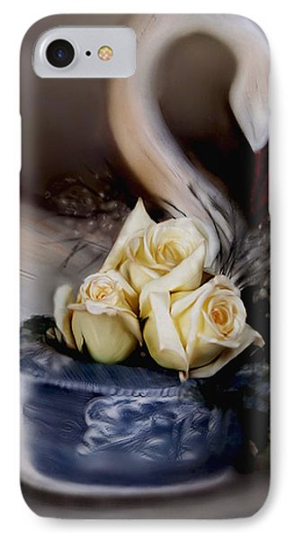 IPhone Case featuring the painting roses for Susan by Bonnie Willis