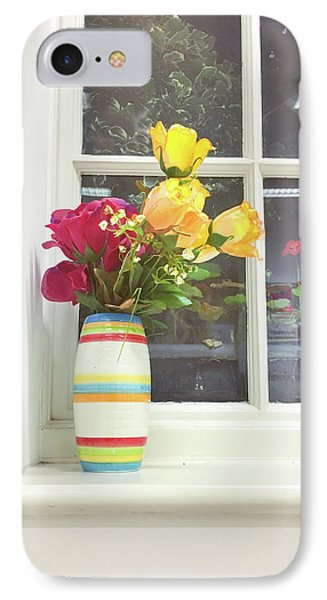 Roses In A Vase IPhone Case by Tom Gowanlock