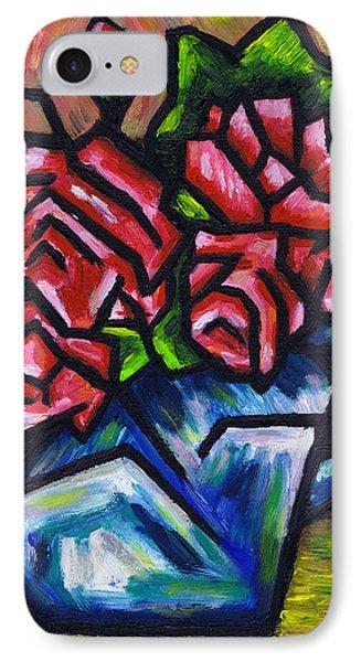 Roses In Blue Vase Phone Case by Kamil Swiatek