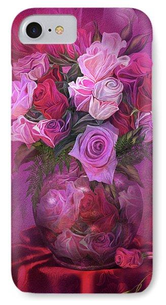Roses In Rose Vase IPhone Case by Carol Cavalaris