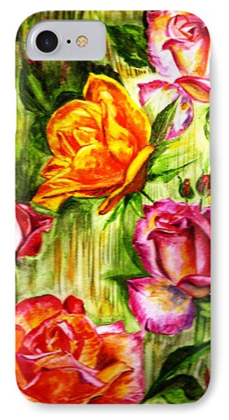 IPhone Case featuring the painting Roses In The Valley  by Harsh Malik