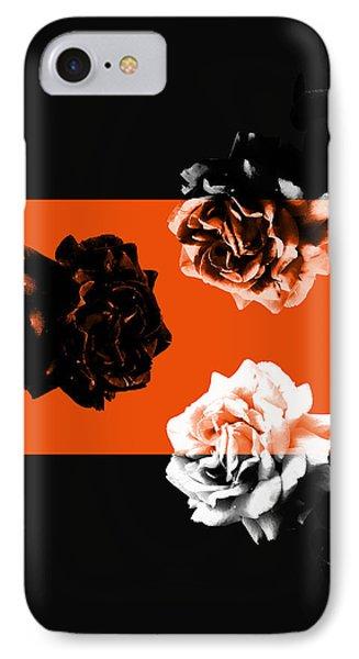Roses Interact With Orange IPhone Case