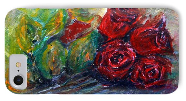 IPhone Case featuring the painting Roses by Jasna Dragun