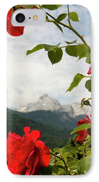 IPhone Case featuring the photograph Roses Of The Zugspitze by KG Thienemann