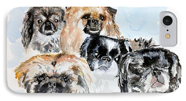 Rose's Pekingese IPhone Case by Stan Tenney