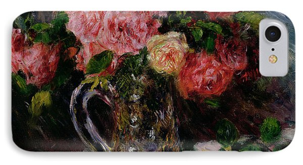 Roses IPhone Case by Pierre Auguste Renoir