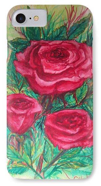 Roses Three IPhone Case by Cathy Long