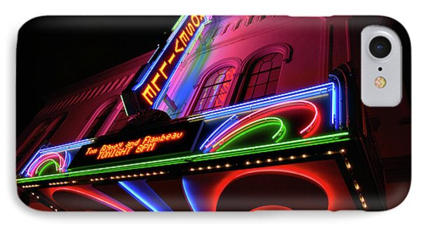 Roseville Theater Neon Sign IPhone Case
