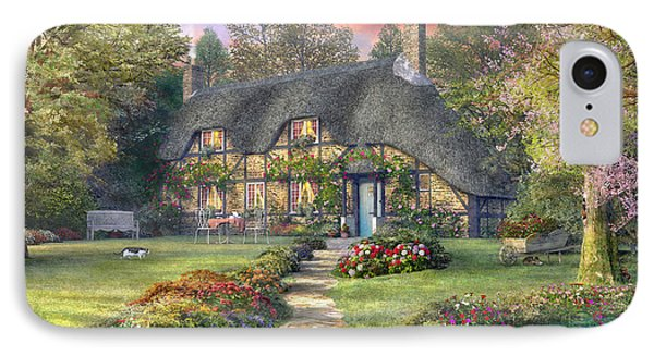 Rosewood Cottage IPhone Case by Dominic Davison