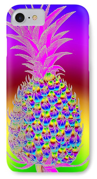 Rosh Hashanah Pineapple Phone Case by Eric Edelman