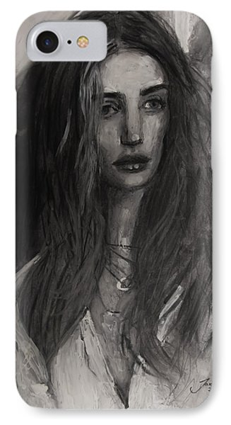 IPhone Case featuring the painting Rosie Huntington-whiteley by Jarko Aka Lui Grande