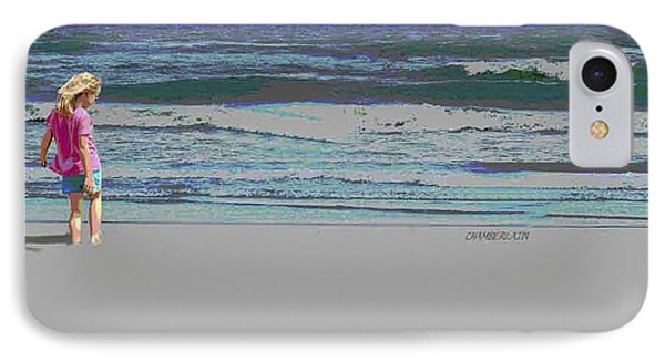 Rosie On The Beach IPhone Case by Walter Chamberlain