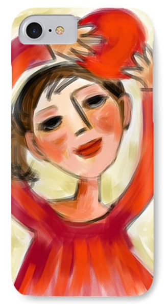 Rosie Red  IPhone Case by Elaine Lanoue