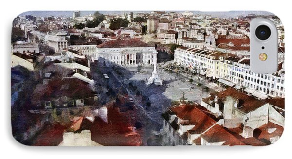 IPhone Case featuring the photograph Rossio Square by Dariusz Gudowicz