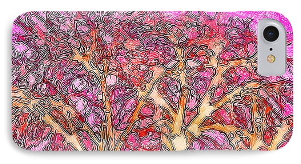 IPhone Case featuring the digital art Rosy Hued Trees - Boulder County Colorado by Joel Bruce Wallach