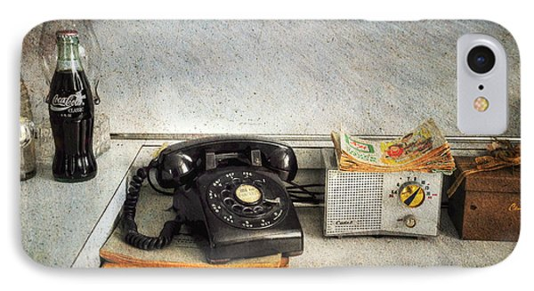 Rotary Dial Phone In Black S And H Stamps Phone Case by Paul Ward
