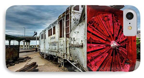 IPhone Case featuring the photograph Rotary Snow Plow Vintage Train - Utah by Gary Whitton