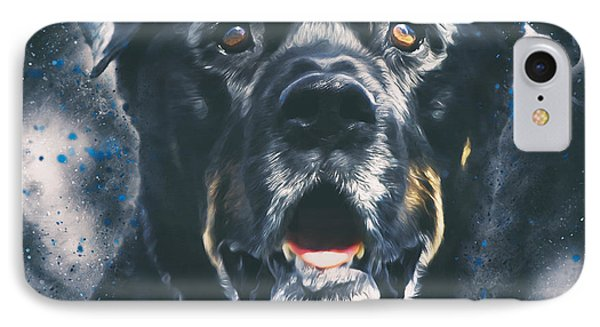 Rottweiler Portrait IPhone Case