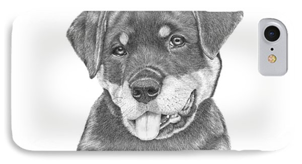 Rottweiler Puppy- Chloe IPhone Case by Patricia Hiltz