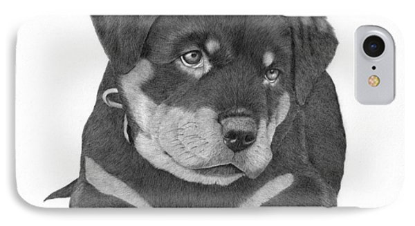 Rottweiler Puppy IPhone Case by Patricia Hiltz