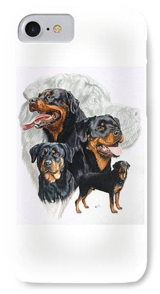 Rottweiler W/ghost  IPhone Case by Barbara Keith
