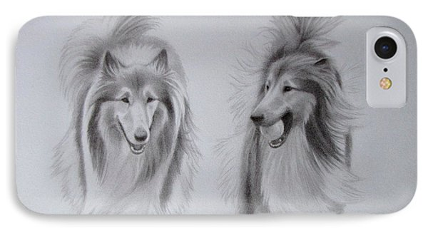 Rough Collie Sisters IPhone Case