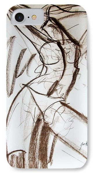 IPhone Case featuring the drawing Rough  by Jarko Aka Lui Grande