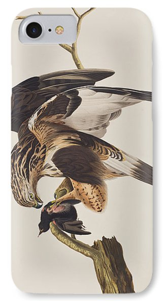 Rough Legged Falcon IPhone Case by John James Audubon