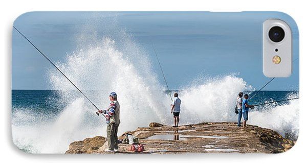 Rough Sea Fishing IPhone Case