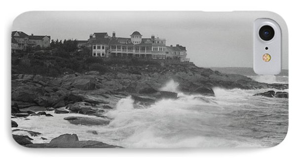 Rough Water At Nubble York Me IPhone Case by Imagery-at- Work