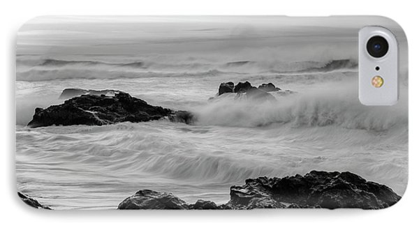 Rough Waves In Black And White IPhone Case