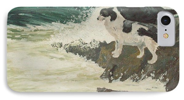 IPhone Case featuring the painting Roughsea by Terry Frederick