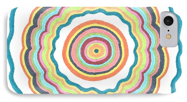 Round And Round IPhone Case by Jill Lenzmeier