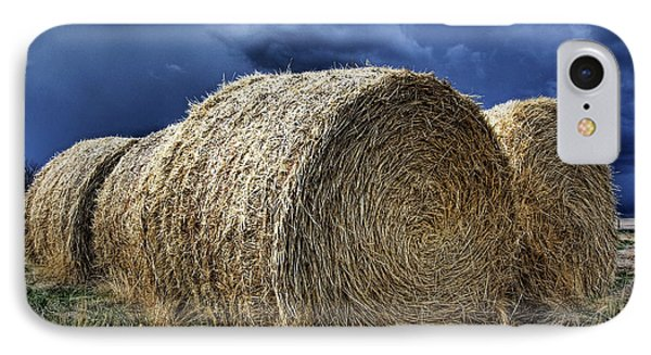 IPhone Case featuring the photograph Round Bales by Brad Allen Fine Art