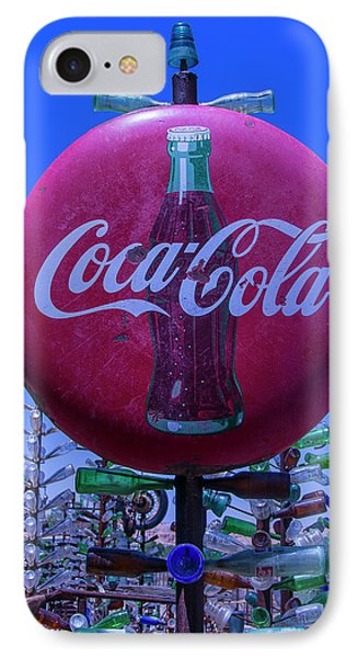 Round Coca Cola Sign IPhone Case by Garry Gay