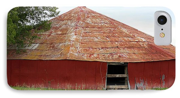 IPhone Case featuring the photograph Round Red Barn by Sheila Brown