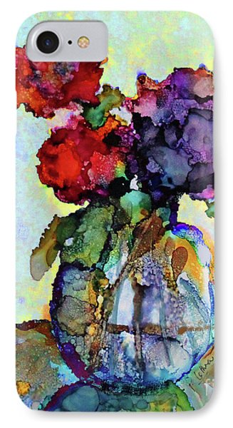 Round Table With Flowers Phone Case by Priti Lathia