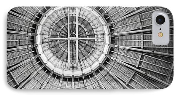 Roundhouse Architecture - Black And White IPhone Case by Joseph Skompski