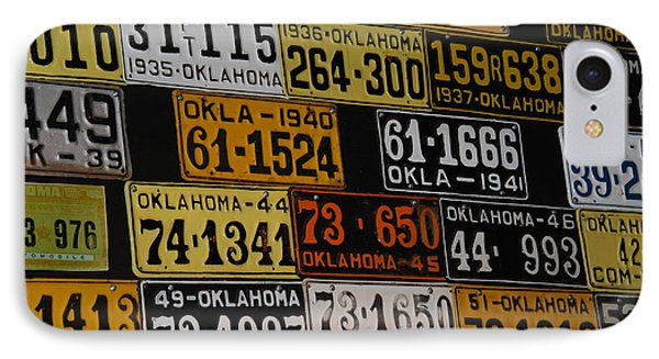 Route 66 Oklahoma Car Tags Phone Case by Susanne Van Hulst