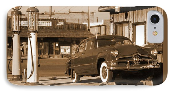 Route 66 - Old Service Station IPhone Case by Mike McGlothlen