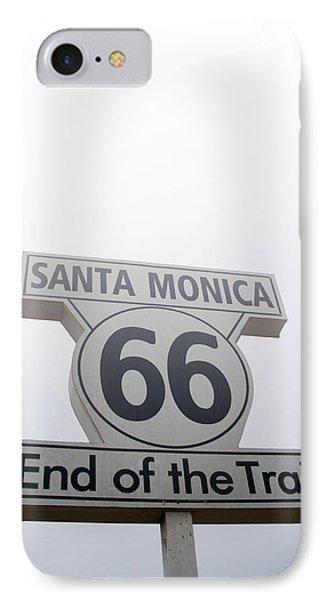 Route 66 Santa Monica- By Linda Woods IPhone Case by Linda Woods