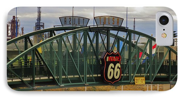 Route 66 Tulsa Sign - Hdr IPhone Case by Tony Grider