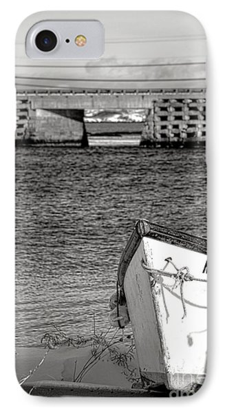Row Boat And Cribstone Bridge IPhone Case by Olivier Le Queinec