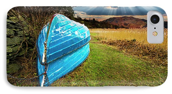 Row Boats In Waiting Phone Case by Meirion Matthias